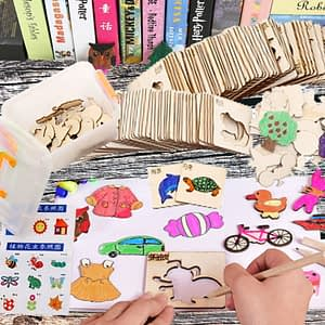 Multifunctional Wood Painting Toys Set Children