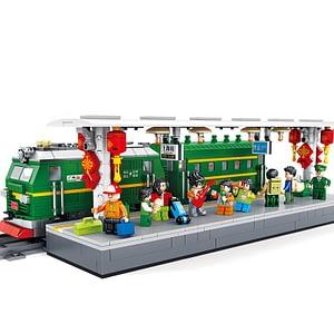 Train Model building Blocks Sets Bricks Kid