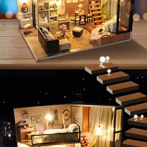 Miniature DIY House Wooden Doll Houses