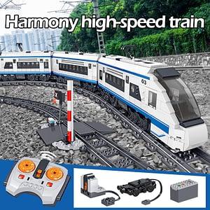 High-speed Rail Remote Control Building Blocks Train