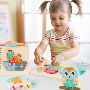 High Quality Baby 3D Wooden Puzzle
